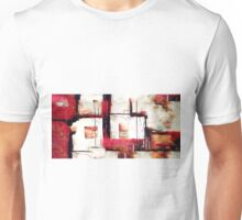 Abstract Square Lines Oil Painting Unisex T-Shirt