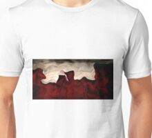 Red Warp Abstract Oil Painting Unisex T-Shirt