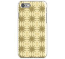 Gold Abstract Flowers iPhone Case/Skin