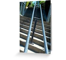 stair rail Greeting Card