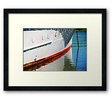 Waterline Reflection Framed Print