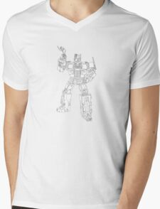 transformer toy with flower Mens V-Neck T-Shirt