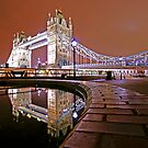 Reflections of Tower Bridge - London Night by DavidGutierrez