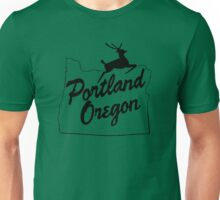 Portland Oregon Sign in Black Unisex T-Shirt