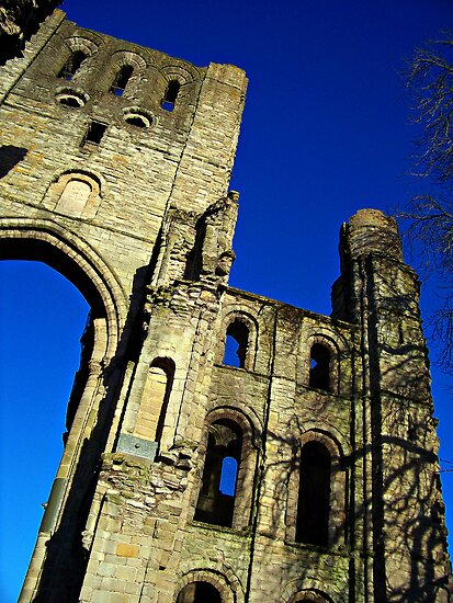 Kelso Abbey In Scotland. by Aj Finan