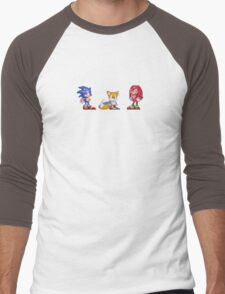 Sonic, Tails, and Knuckles Men's Baseball ¾ T-Shirt