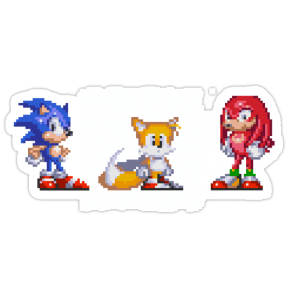 Sonic, Tails, and Knuckles by shikijiyu