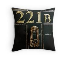 221B - door Throw Pillow