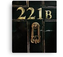 221B - door Canvas Print
