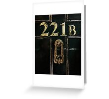 221B - door Greeting Card