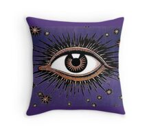 Purple Eye Throw Pillow