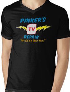 Pinker's TV Repair Mens V-Neck T-Shirt