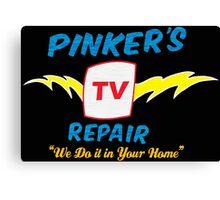 Pinker's TV Repair Canvas Print
