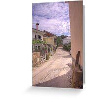 Rua das Alminhas - Vale de Gouvinhas Greeting Card