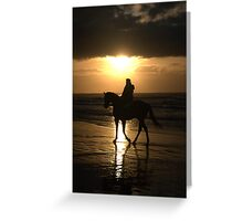 Any day started on horseback must be a good day Greeting Card