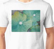 In Rosemary's Garden - Nasturtium Leaf with Dew Drops Unisex T-Shirt