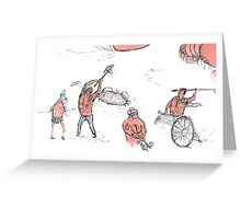 gladiators and some crustaceans  Greeting Card