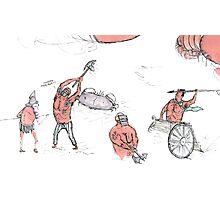 gladiators and some crustaceans  Photographic Print