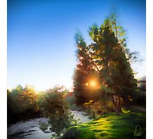 Sunset on Silvia River - Cauca Colombia Photographic Print