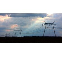 Electric towers for your designs Photographic Print