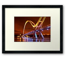 Infinity Bridge, Stockton On Tees UK (HDR using Photomatix) Framed Print