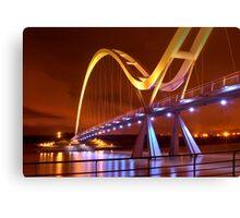 Infinity Bridge, Stockton On Tees UK (HDR using Photomatix) Canvas Print