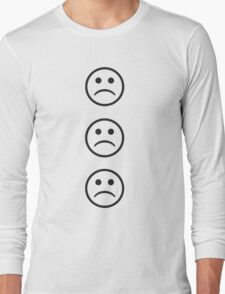 Sad Face 3 Long Sleeve T-Shirt
