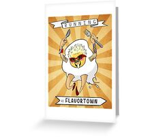 Running To Flavortown Greeting Card
