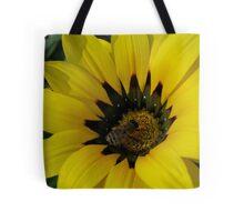 Gazania 12 - Gazania with Bee photograph Tote Bag