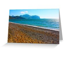 landscape of the Black Sea  Greeting Card