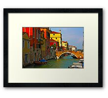 Romantic places of Venice  Framed Print