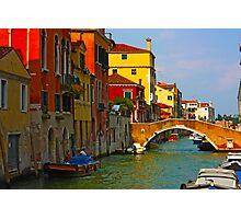 Romantic places of Venice  Photographic Print