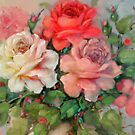 Multi Color Rose, detail by Cathy Amendola