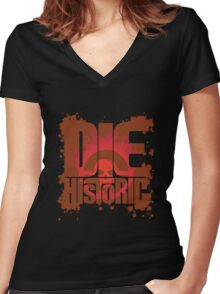 Die Historic Women's Fitted V-Neck T-Shirt