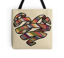 Scarf Heart Tote Bag