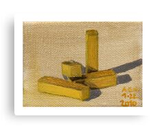 Yellow Blocks Canvas Print