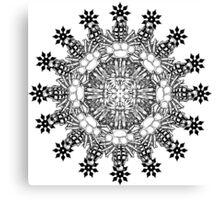 Violent Mandala  Canvas Print