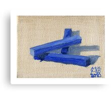 Blue Blocks Canvas Print