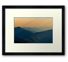 soft rays and windmills, Parque Natural Da Serra Da Estrela, Portugal Framed Print