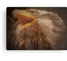 Eagle Fence Metal Print