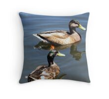 Two Ducks  Throw Pillow