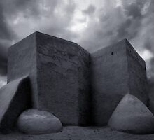 Adobe Church in Taos, New Mexico by Patrick  McMullen