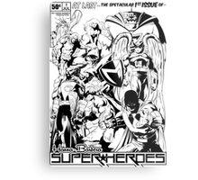 HANNA-BARBERA SUPER HEROES BLACK AND WHITE Metal Print