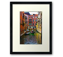 Romantic places in Venice Framed Print