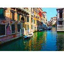 Romantic places in Venice Photographic Print