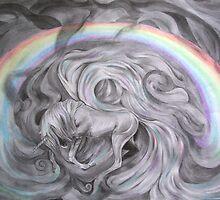 Pegasus under the rainbow by helenacooper