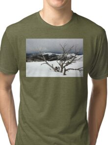 A snowstorm on a mountainside in Australia Tri-blend T-Shirt