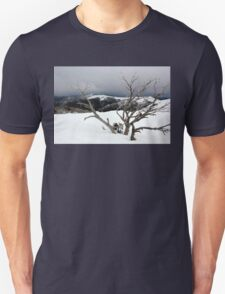 A snowstorm on a mountainside in Australia T-Shirt