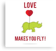 Love Makes You Fly ! Canvas Print