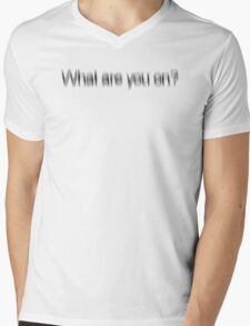 What Are You On? Mens V-Neck T-Shirt